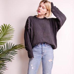 Vintage 90s oversized chunky knit boxy sweater